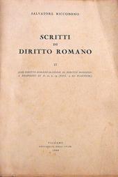Riccobono. Scritti di Diritto Romano. II.