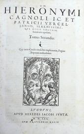 Cagnoli. Opera Omnia in tres Tomos distributa. 1a ediz.