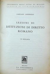 Lezioni di Istituzioni di Diritto Romano. VIa ristampa.