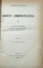 Istituzioni di diritto amministrativo.