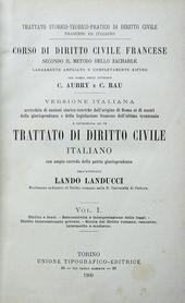 Landucci. Trattato di diritto civile italiano con ampio