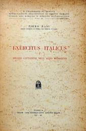 Exercitus Italicus e milizie cittadine nell'Alto Medioe