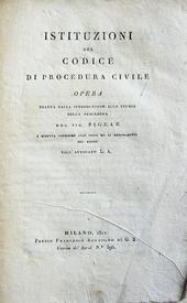 Pigeau. Istituzioni del Codice di Procedura Civile.