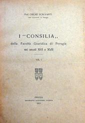 Scalvanti. I Consilia della Fac. Giuridica di Perugia