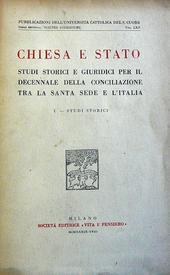 Chiesa e Stato. Studi storici e giuridici