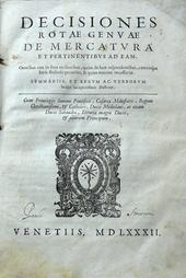 Decisiones Rotae Genuae de Mercatura et pertinentibus