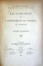 Le congrue e i supplementi di congrua ai parroci. Studi