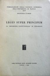 Leges super principem. La Monarchia Costitzionale di Ve