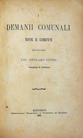 I demanii comunali note e comenti - Abolizione feudalit