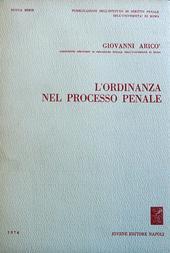 L'ordinanza nel processo penale.