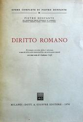 Istituzioni di Dir. Romano. Ristampa corretta della X