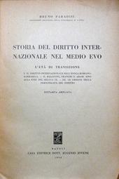 Storia del diritto internazionale nel medio evo.