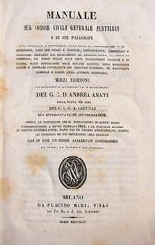 Castelli. Manuale sul Codice Civile Generale Austriaco.
