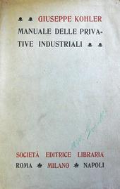 Manuale delle Privative Industriali (Lehrbuch des Patentrechts).